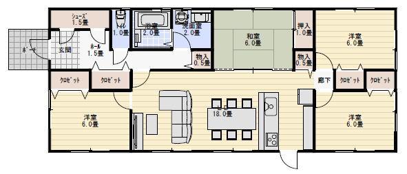 間取り 平屋 30坪