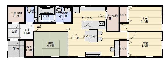 平屋 間取り 26坪